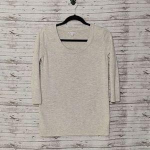 GAP 3/4 sleeve lightweight sweater Gray Sz:M Cotto